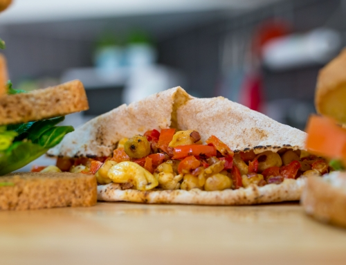 "The easiest ""Curried"" Chickpeas Wrap"